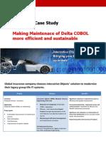 iO - Case Study - Efficient and Sustainable COBOL Maintenance