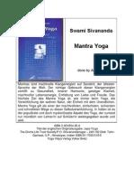 Swami Sivananda - Mantra Yoga
