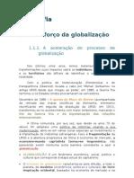 O reforço da globalização