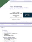 Vector Auto Regressions