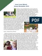 2012 Jesus Loves Malawi Feb Newsletter