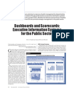 Dashboards and Scorecards Executive Information Systems for the Public Sector
