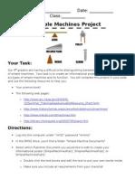 Simple Machines Project Description