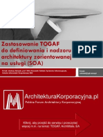 Zastosowanie TOGAF do definiowania i nadzoru architektury zorientowanej na usługi