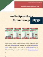 Audio Sprachkurs für unterwegs