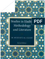 Studies in Hadith Methodology and Literature by Shaykh Muhammad Mustafa al-A'zami