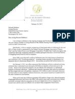Kamala Harris letter to Edward DeMarco