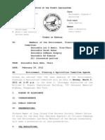 3-5-2012 Environment Committee Agenda