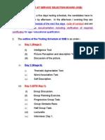 01. Schedule of Ssb Interview