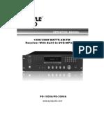 Pyle Pro Pd-1000a & Pd-3000a