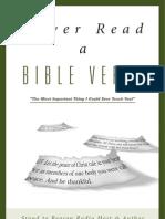 Never Read a Bible Verse by Greg Koukl