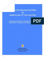 12th Plan Health Final Report From Steering Committee