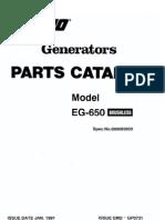 Brushless Generator EG-650