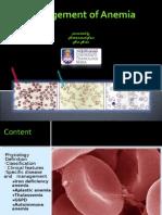 Management of Anemia Faiz7