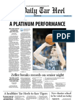 The Daily Tar Heel for March 1, 2012