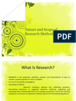 Nature and Scope of Research Methodology