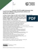 C. Clerbaux et al- CO measurements from the ACE-FTS satellite instrument