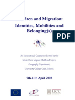 Children and Migration- Identities, Mobilization and Belonging