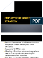 Employee Resourcing Strategy