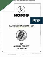 Kores India Ltd 2010