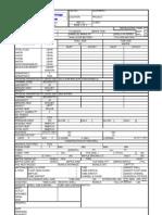 Heat Exchanger Datasheet Sample