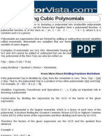 Factoring Cubic Polynomials