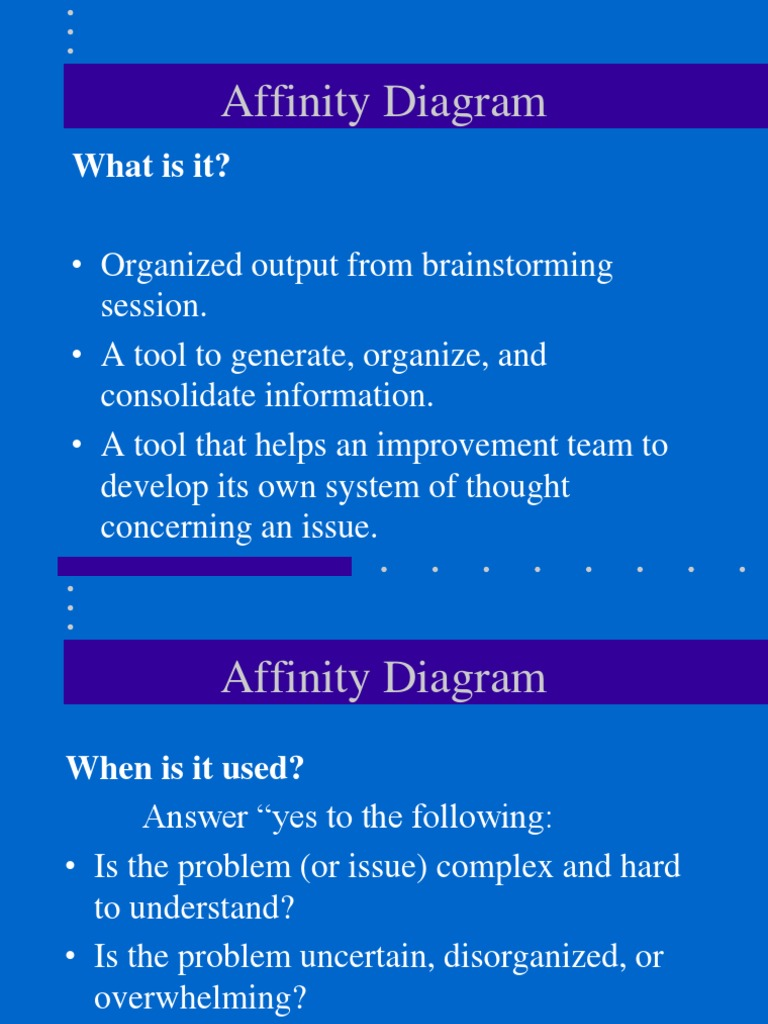 Affinity Diagram  What Is It