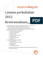 Catatan perkuliahan 2012