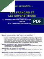 Sondage Superstitions Francais