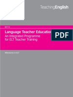 Language Teacher Education an Integrated Programme for EFL Teacher Training