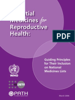 Essential Medicines for Reproductive Health
