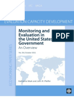 M&E in US Gov_WB_Evaluation Capacity Development Working Paper