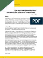 Naar Een Groter Financieringsaanbod Voor Energiezuinige Gebouwen en Woningen_ECN 28-02-2012
