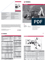 Terex 820 Backhoe Loader TechSheet