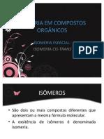 ISOMERIA EM COMPOSTOS ORGÂNICOS-clarice