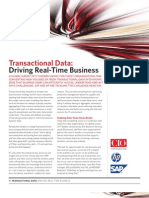 Transactional Data - Driving Real Time Business