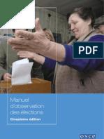 Manuel observation électorale