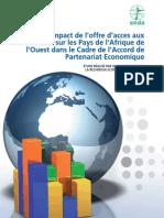 Etude d'Impact de l'offre d'accès aux Marches sur les Pays de l'Afrique de l'Ouest dans le Cadre de l'Accord de Partenariat Economique