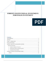 Foreign Institutional Investment