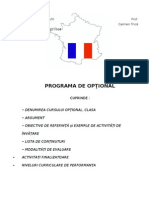 Optional Lb Franceza