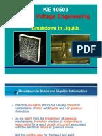 High Voltage - Breakdown in Liquids