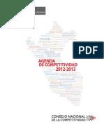 Agenda de Competitividad 2012-2013 (Ministerio de Economía y Finanzas- Perú)