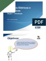 Materiais Elétricos e Eletrônicos - Seção 1 - Introdução