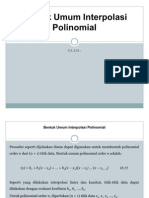 Bentuk Umum Interpolasi Polinomial