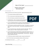 19 Real World Correction Sheet