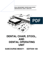 US Army Medical Course MD0371-100 - Dental Chair, Stool, And Dental Operating Unit