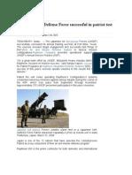 Japan Air Self-Defense Force Successful in Patriot Test Firings