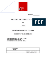 Diploma Di Lingua Italiana Novembre 09