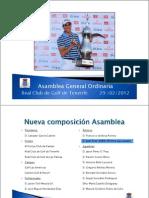 Asamblea Federación Canaria de Golf, 29 febrero 2012 (R.C.G. Tenerife)