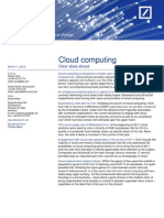 Deutsche Bank - Cloud computing. Clear skies ahead